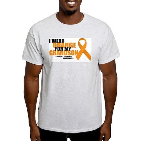 Leukemia: Orange For Grandson Light T-Shirt