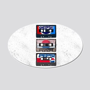Pepsi Flashback Tapes 20x12 Oval Wall Decal
