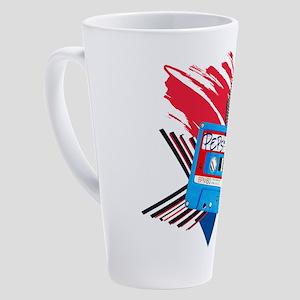 Pepsi Flashback Cassette 17 oz Latte Mug