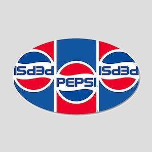 Pepsi Flashback Logo 20x12 Oval Wall Decal