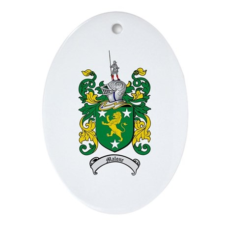Malone Family Crest Oval Ornament