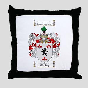 Malloy Family Crest Throw Pillow