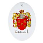 Maldonado Family Crest Oval Ornament