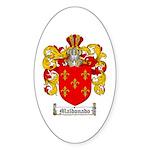 Maldonado Family Crest Oval Sticker