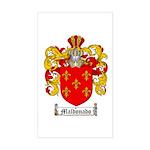 Maldonado Family Crest Rectangle Sticker