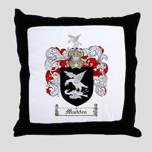 Madden Family Crest Throw Pillow