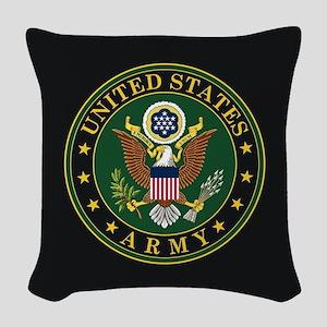 U.S. Army Emblem Woven Throw Pillow