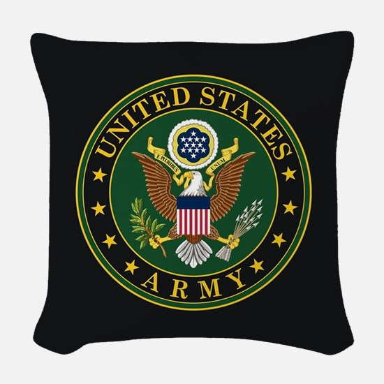 U.S. Army Emblem Woven Throw Pillow