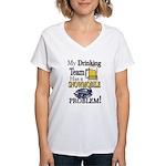 My Drinking Team has a Snow Women's V-Neck T-Shirt