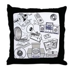 Play That Funky Music Throw Pillow