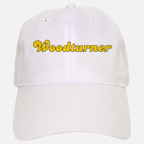 Retro Woodturner (Gold) Baseball Baseball Cap
