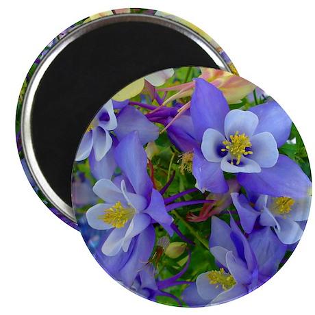 "Columbine Flowers 2.25"" Magnet (100 pack)"