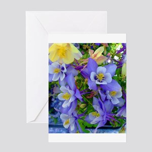 Columbine Flowers Greeting Card