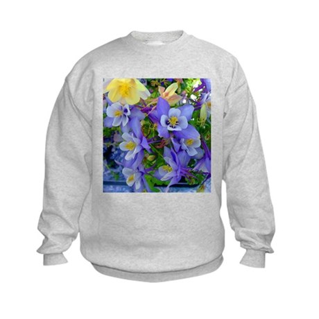 Columbine Flowers Kids Sweatshirt