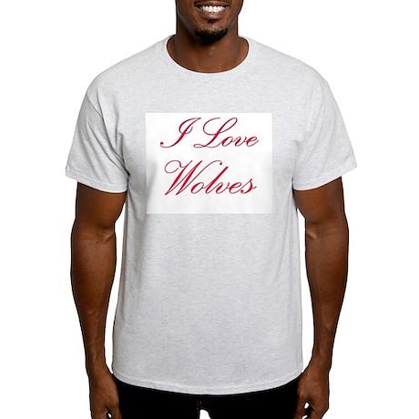 I Love Wolves Light T-Shirt