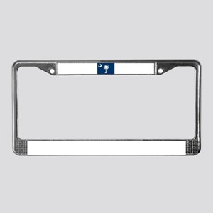 """South Carolina State Flag"" License Plate Frame"