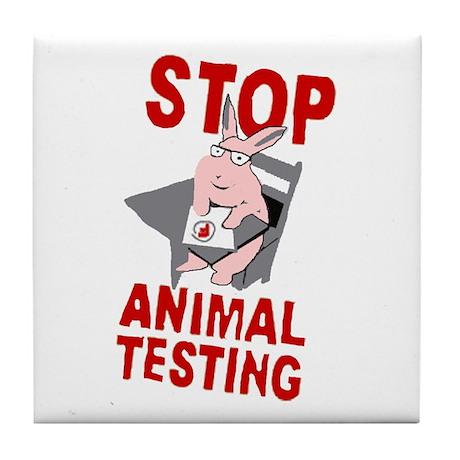 Stop Animal Testing Tile Coaster