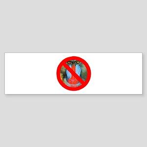 No Baboons Bumper Sticker