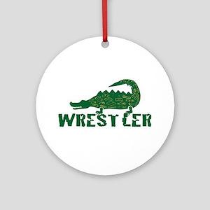 Alligator Wrestler Ornament (Round)