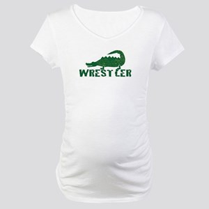 Alligator Wrestler Maternity T-Shirt