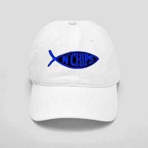 Jesus fish n chips Cap