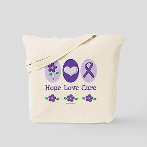 Purple Ribbon Alzheimer's Tote Bag
