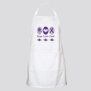 Purple Ribbon Alzheimer's BBQ Apron