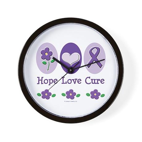 Purple Ribbon Alzheimer's Wall Clock