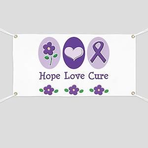 Purple Ribbon Alzheimer's Banner