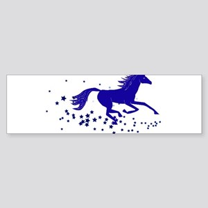 Blue Stars Pony Bumper Sticker