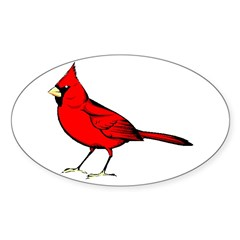 Cardinal Oval Sticker (50 pk)