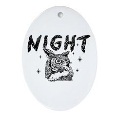 Night Owl Oval Ornament