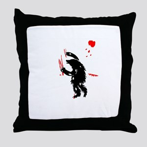 Bear Attack Throw Pillow