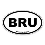 Brussels Airport Oval Sticker
