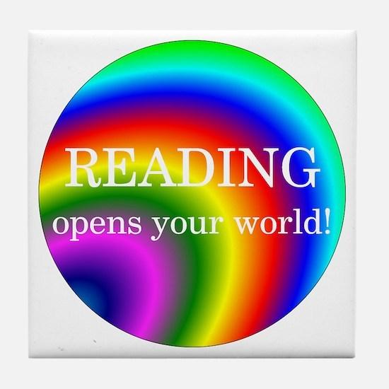 Reading World Tile Coaster