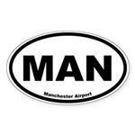 Manchester Airport Oval Sticker