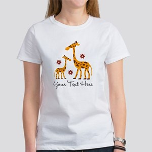 Giraffe Mom and Baby T-Shirt