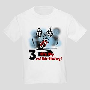 Motorcycle Racing 3rd Birthday Kids Light T-Shirt