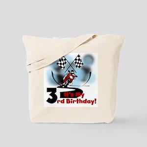Motorcycle Racing 3rd Birthday Tote Bag