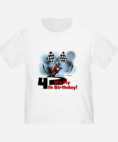 Motorcycle Racing 4th Birthday T