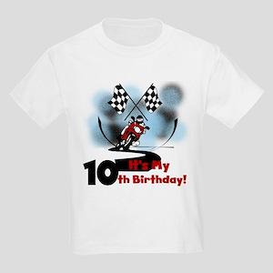 Motorcycle Racing 10th Birthday Kids Light T-Shirt