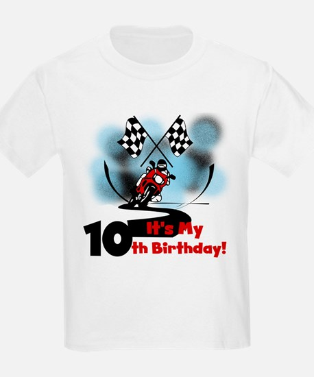 Motorcycle Racing 10th Birthday T-Shirt