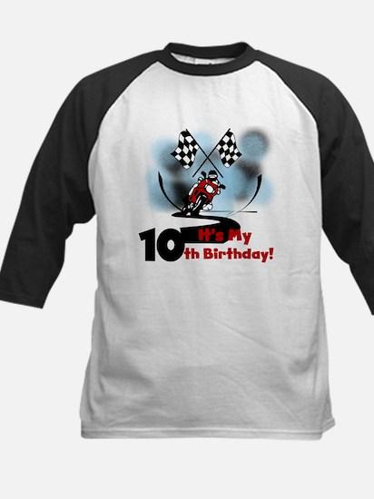 Motorcycle Racing 10th Birthday Kids Baseball Jers