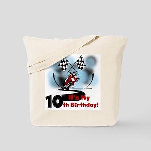 Motorcycle Racing 10th Birthday Tote Bag