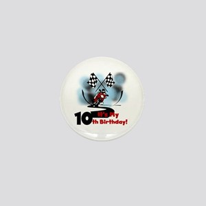 Motorcycle Racing 10th Birthday Mini Button