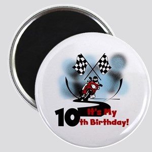 Motorcycle Racing 10th Birthday Magnet