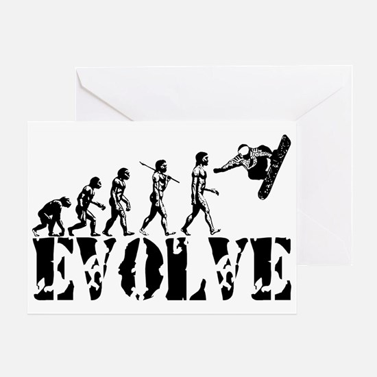 Snowboarding Evolution Greeting Card