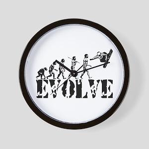 Snowboarding Evolution Wall Clock