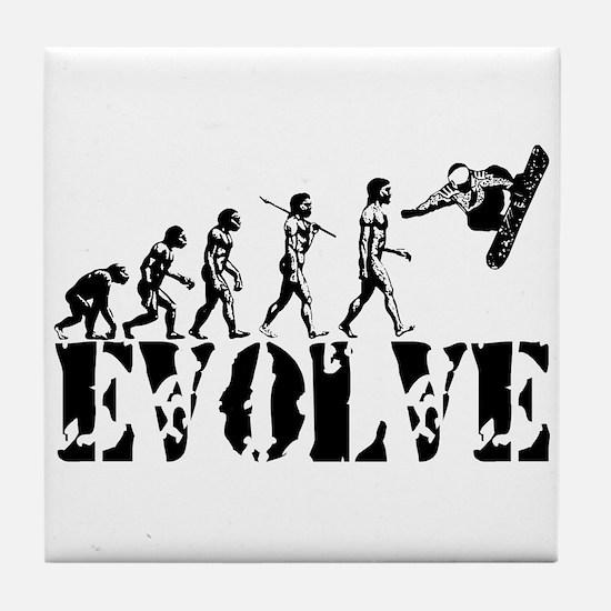 Snowboarding Evolution Tile Coaster
