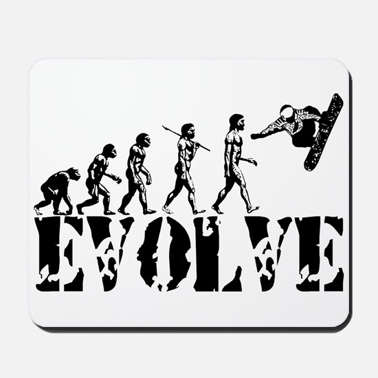 Snowboarding Evolution Mousepad